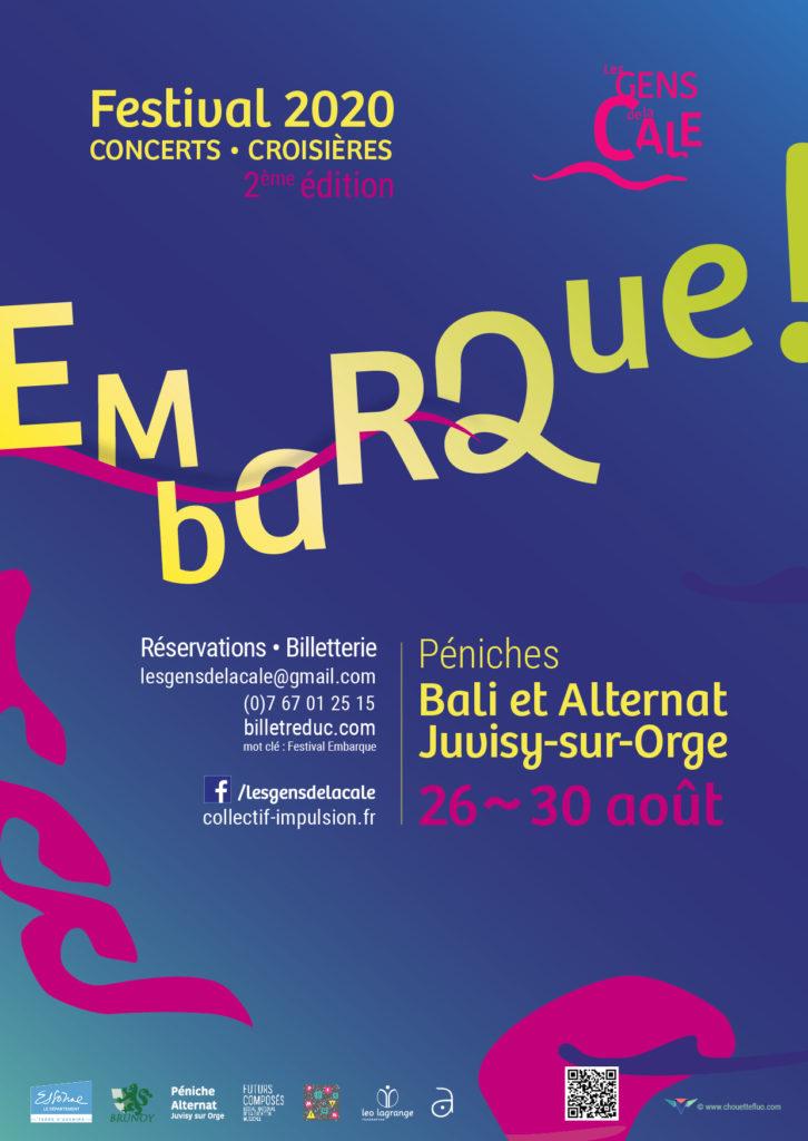 Affiche festival Embarque 2020!